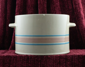 Vintage 164 Tureen in Pink & Blue Stripes by McCoy Pottery Base Only