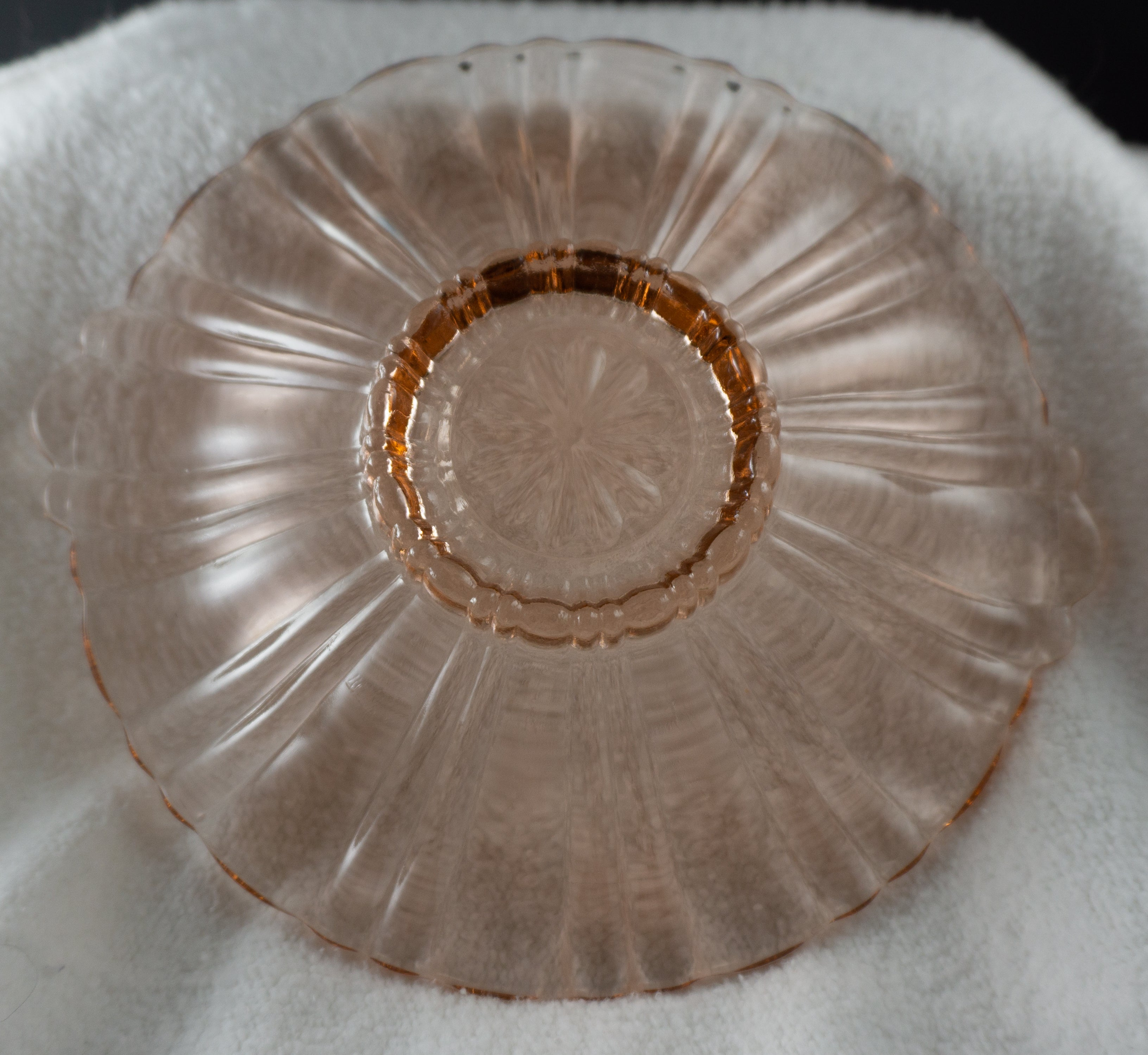Anchor Hocking Old Cafe Pink Mint Candy Dish 1936 - 1940 Depression Glass
