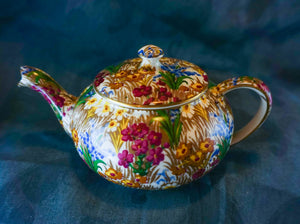 Marguerite (Gold Trim) by ROYAL WINTON Stacking Mini-teapot 1928