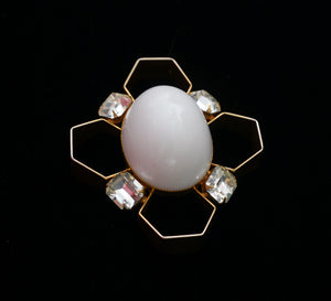 Signed Jeanne Mid Century Modern Pin Brooch Vintage Costume Jewelry