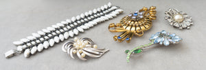 Vintage Costume Jewelry Destash for Upcycle Recycle and Repairs