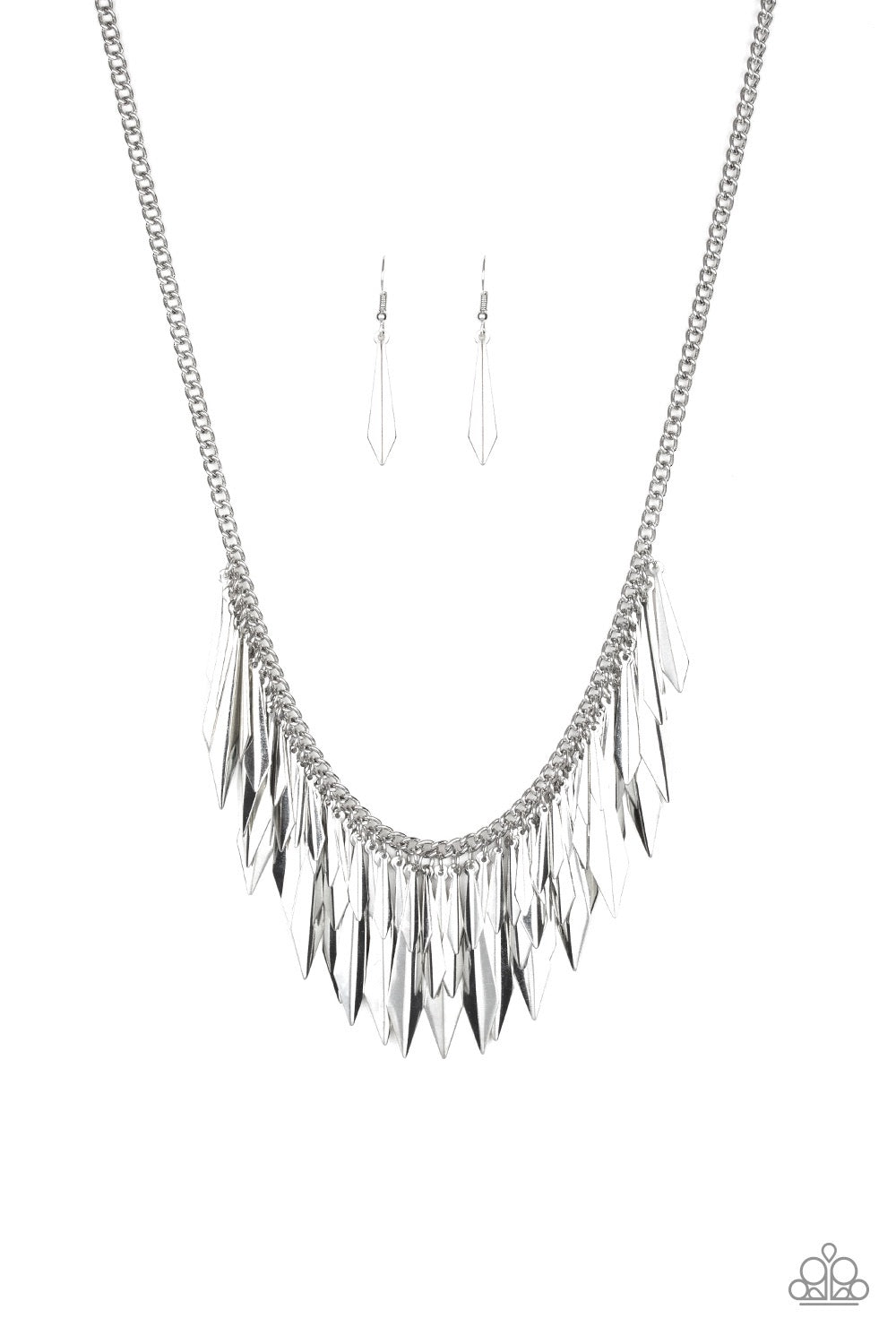 Paparazzi The Thrill - Seeker Necklace -Silver