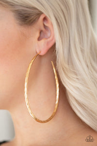 Paparazzi Fleek All Week Hoop Earrings - Gold