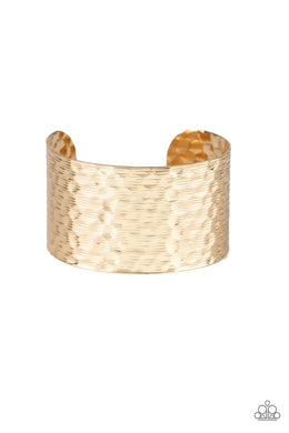 Paparazzi Simmering Shimmer Cuff - Gold