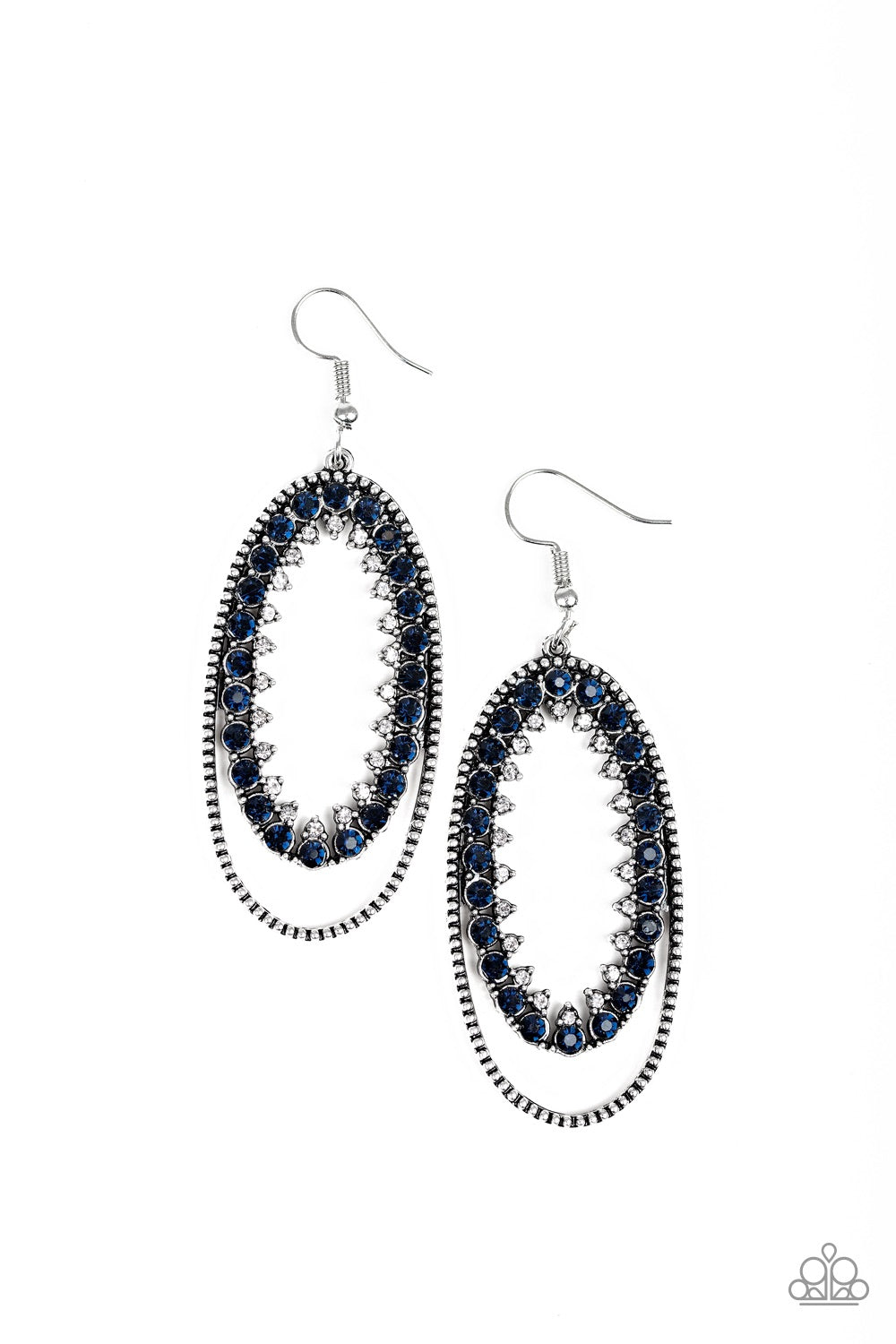 Paparazzi Marry Into The Money Earrings - Blue