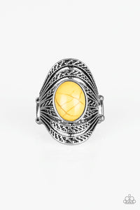 Paparazzi Royal Roamer Ring -Yellow