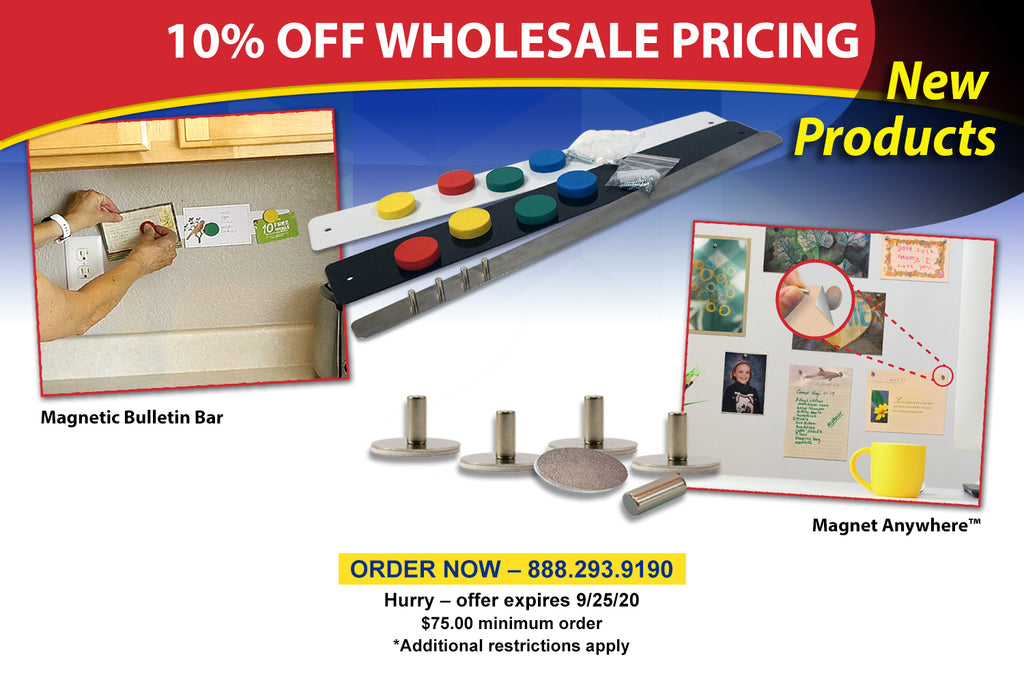 Magnet Anywhere & Bulletin Bar Retailer Special