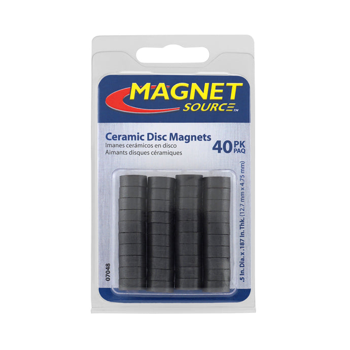 Ceramic Disc Magnets (40pk)