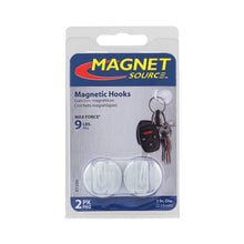 Load image into Gallery viewer, White Magnetic Hooks (2pk)