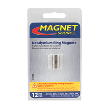 Load image into Gallery viewer, Neodymium Ring Magnets (12pk)