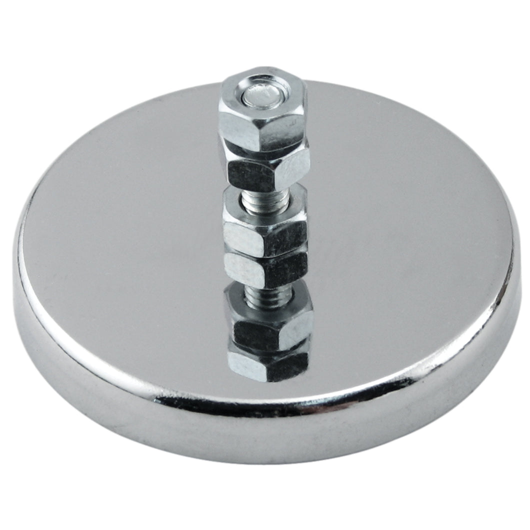 Ceramic Round Base Magnet with Bolt and Nuts