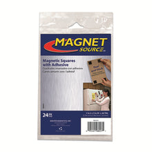 Load image into Gallery viewer, Flexible Magnetic Squares with Adhesive (24pk)