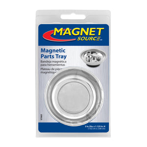 "3"" Round Magnetic Parts Tray"