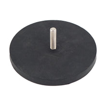 Load image into Gallery viewer, Neodymium Rubber Coated Round Base Magnet with Male Thread