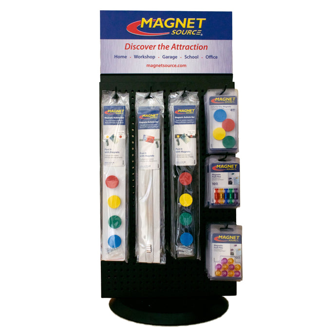 Magnet Source® Rotating Posting Magnets Spinner Display Kit (with product)