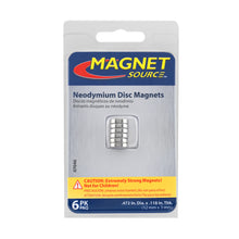 Load image into Gallery viewer, Neodymium Disc Magnets (6pk)