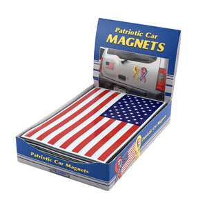Flexible Magnetic U.S. Flags Counter Display