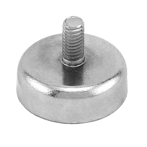 Grade 42 Neodymium Round Base Magnet with Male Thread