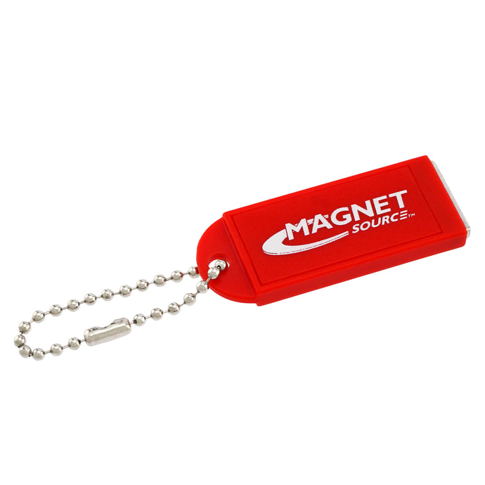 Neodymium Key Chain Magnet w/Logo, Red