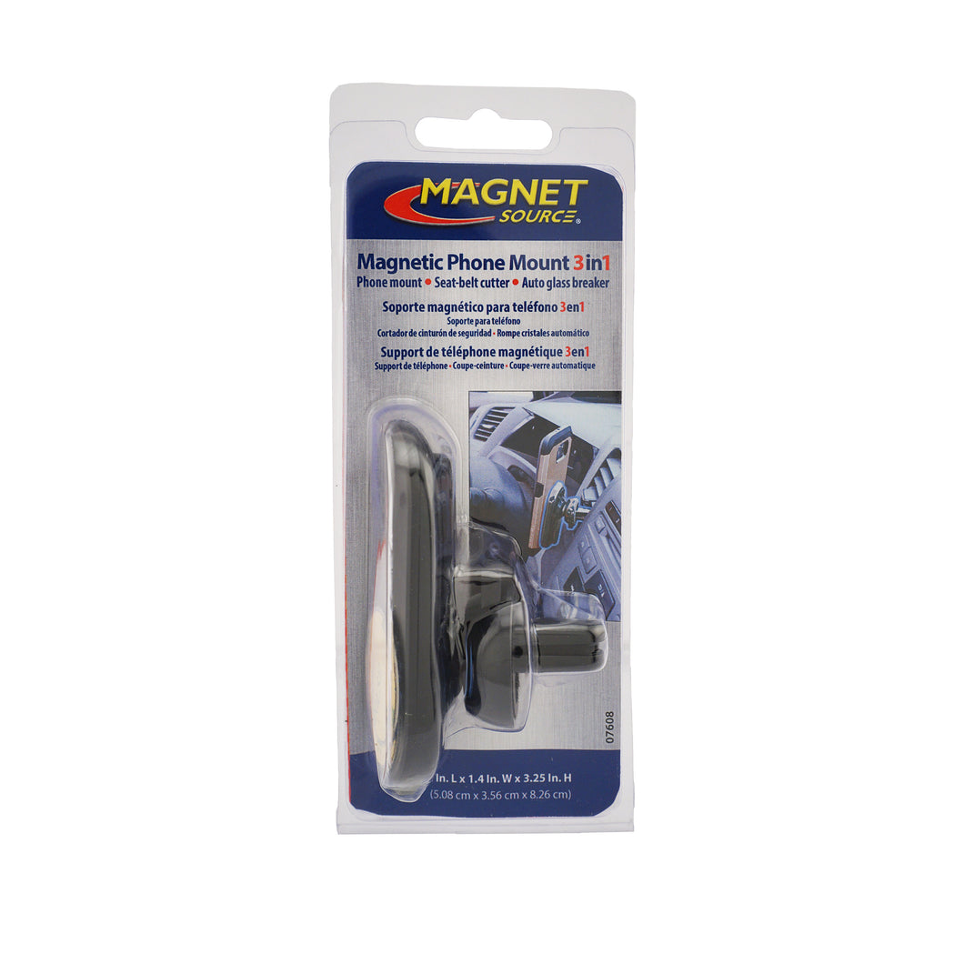 Magnetic Phone Mount 3-in-1, Car Vent Attachment