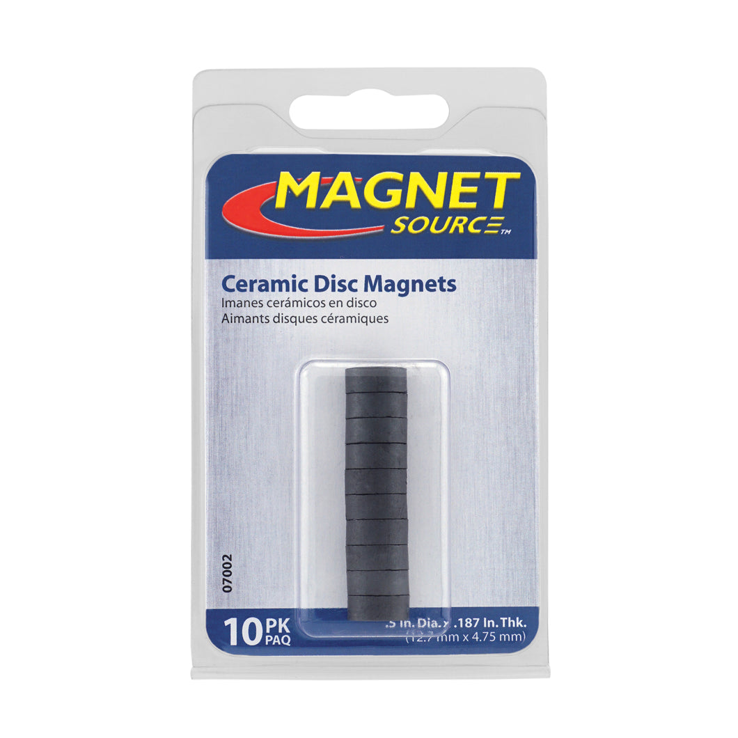 Ceramic Disc Magnets (10pk)