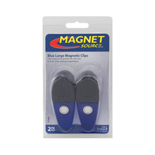Load image into Gallery viewer, Large Neodymium Magnetic Clips (2pk, Blue)