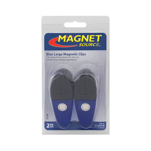 Large Neodymium Magnetic Clips (2pk, Blue)