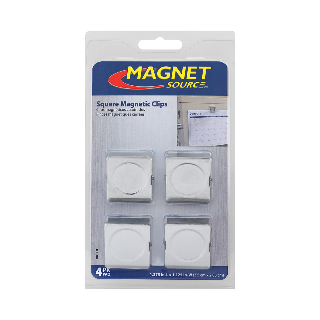Magnetic Metal Clips (4pk)