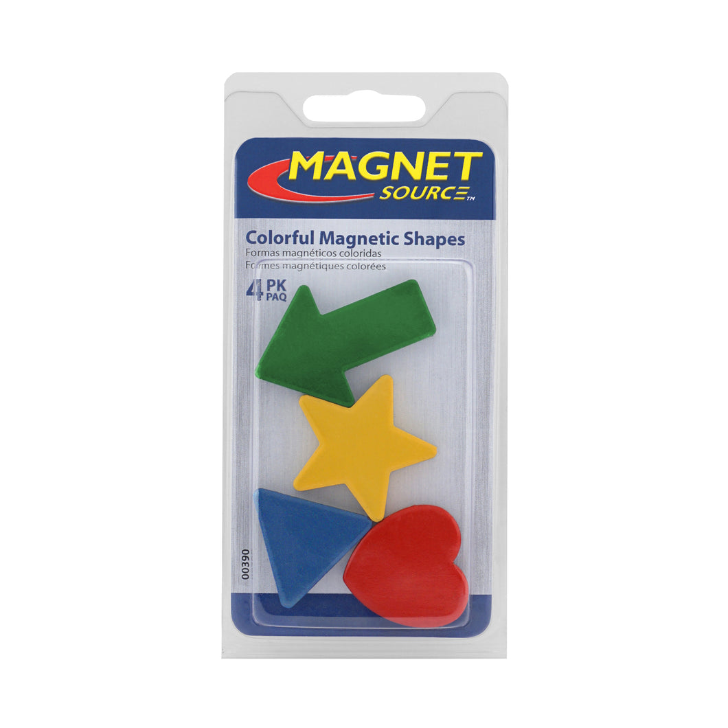 Colorful Ceramic Magnet Shapes (4pk)