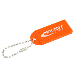 Neodymium Key Chain Magnet w/Logo, Orange