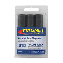 Load image into Gallery viewer, Ceramic Disc Magnets (51pk)