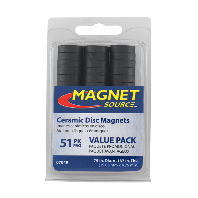 Ceramic Disc Magnets (51pk)