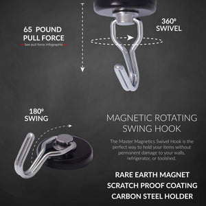 Neodymium Rotating and Swinging Magnetic Hook