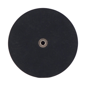 Neodymium Rubber Coated Round Base Magnet with Female Thread