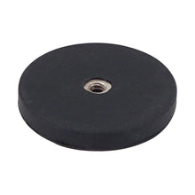 Load image into Gallery viewer, Neodymium Rubber Coated Round Base Magnet with Female Thread