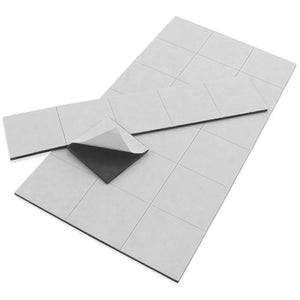 Flexible Magnetic Squares with Adhesive (24pk)