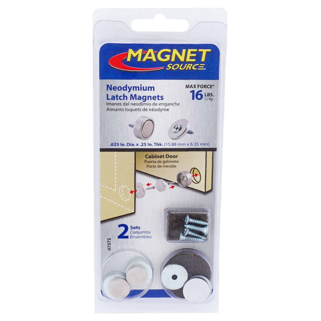 Neodymium Latch Magnet Kit (2 sets)