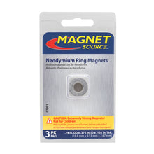 Load image into Gallery viewer, Neodymium Ring Magnets (3pk)