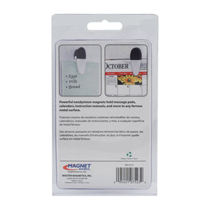 Large Neodymium Magnetic Clips (2pk, White)