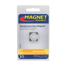 Load image into Gallery viewer, Neodymium Disc Magnets (3pk)