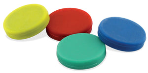 Colorful Ceramic Rubber Coated Disc Magnets Counter Display