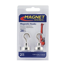 Load image into Gallery viewer, Grade 42 Neodymium Magnetic Hooks (2pk)