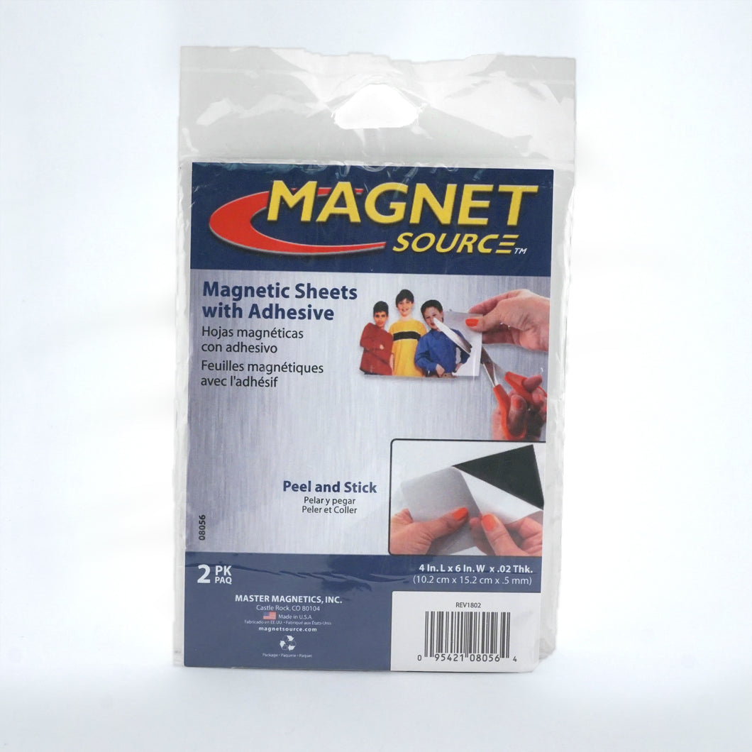 Flexible Magnetic Sheets with Adhesive (2pk)