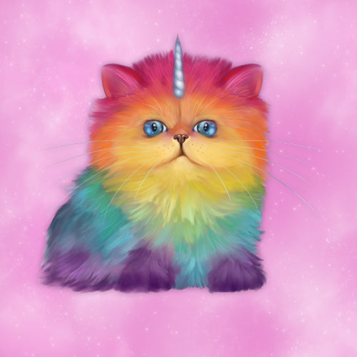 Rainbow unicorn cat Mewnicorn
