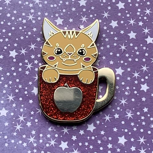 Apple Cider Cat Pin Pin Ash Evans