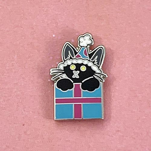 Birthday Cat Pin Pin Ash Evans