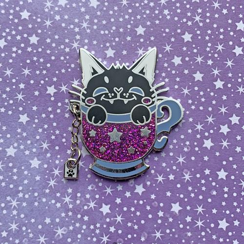 Black Tea Cat Pin Pin Ash Evans