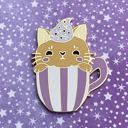 Chai Tea Cat Pin Pin Ash Evans