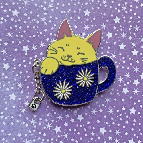 Chamomile Tea Cat pin Pin Ash Evans