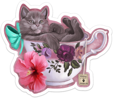 Hibiscus Tea Kit-Tea Sticker Sticker Ash Evans